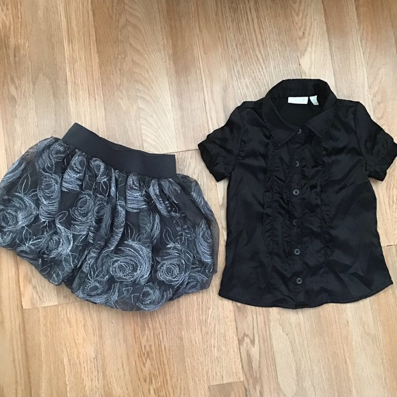 The Children's Place  skirt and blouse set.